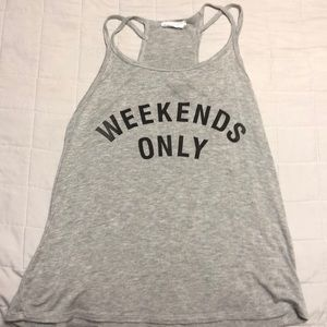 Weekends Only Tank Top By Full Tilt